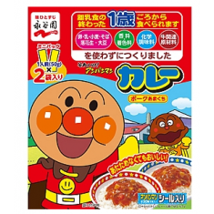 호빵맨 미니 팩 카레 돼지고기 달콤한맛 (50g × 2 봉지)